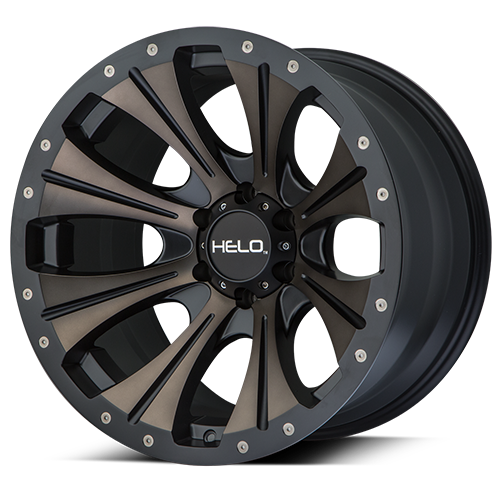 Helo HE901 Satin Black Dark Tint wheel 6lug 500
