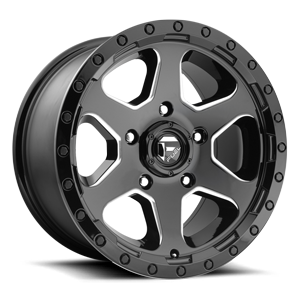 RIPPER 17X9 GLOSS BLK AND MILLED A1 3001